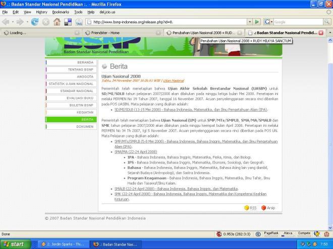 Info BSNP 24-11-2007