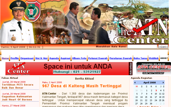 Website Gubernur KalTeng
